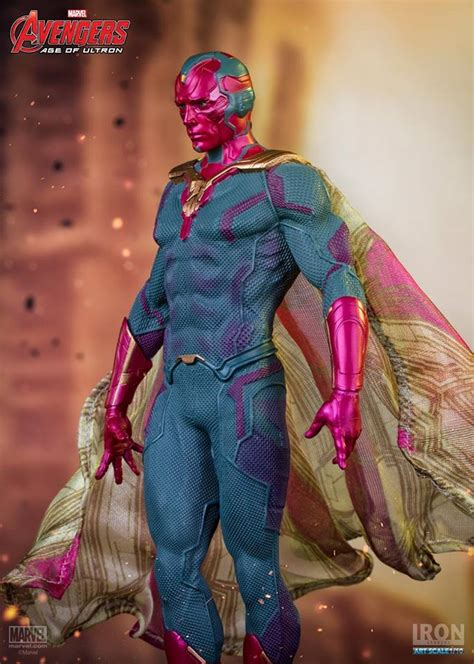 Age Of Ultron Iron The Vision Nations iron studios age of ultron vision 1 10 statue ebay
