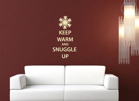 keep warm and snuggle up snowflake wall decal by 60 second