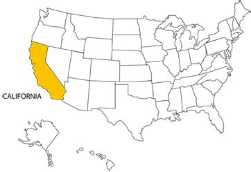 usa map california highlighted world tour