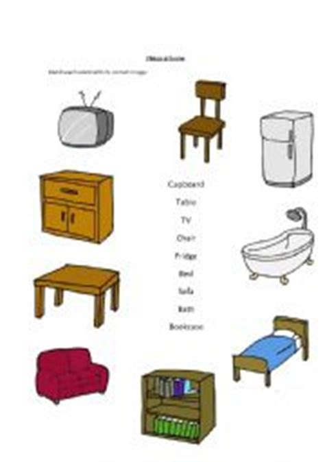 home things esl kids worksheets things at home