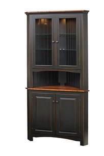 Kitchen Door Furniture Shaker Corner Cabinet Peaceful Valley Amish Furniture