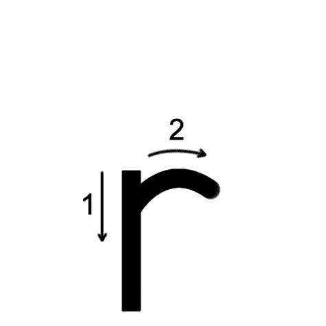 small r lowercase r printing worksheet trace 1 print 1