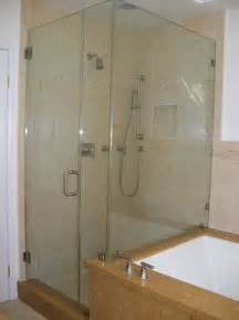 glass shower door tub combo traditional bathroom los