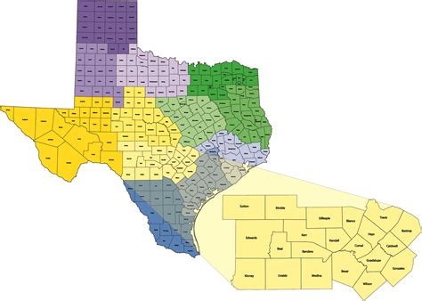 district map of texas find 4 h in your county district 10 4 h and youth