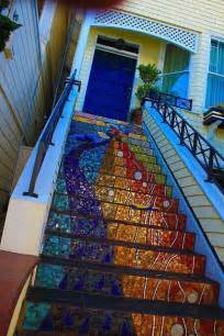 Mosaic Stairs by Broken Glass Mosaic Stairs Colorful Glass Pinterest