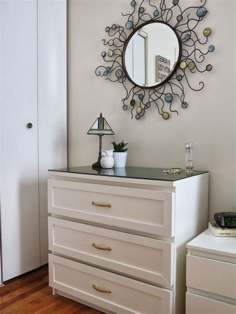 white shaker style dresser malm i would use white stained oak drawers and add white