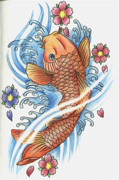 orange koi fish tattoo design orange koi fish design tattoomagz
