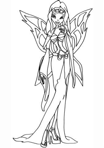 Winx Club Morgana coloring page | Free Printable Coloring