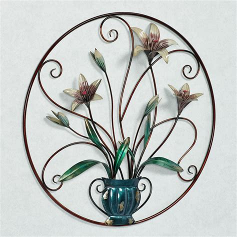metal floral wall decor garden floral metal wall
