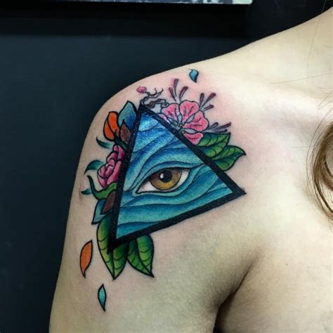 60 greatest all seeing eye tattoo ideas a mystery on skin