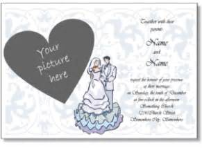printable wedding invitations free wedding invitation templates to print with your photo