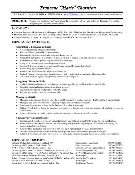 financial aid resume resume ideas