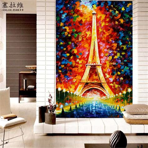 eiffel tower wallpaper for bedroom eiffel tower wallpaper oil painting 3d photo wallpaper