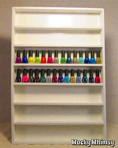 Nail Rack Wood by Nail Rack Display Storage Wood 20 Color Choices