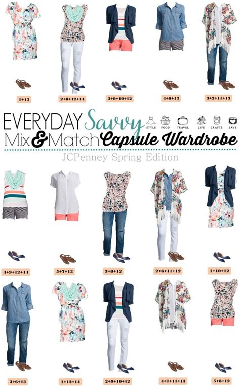 capsule wardrobe for the over40s jcpenney capsule wardrobe for spring mix match