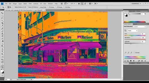 adobe photoshop hue saturation tutorial beginner adobe photoshop cs4 neon color hue saturation