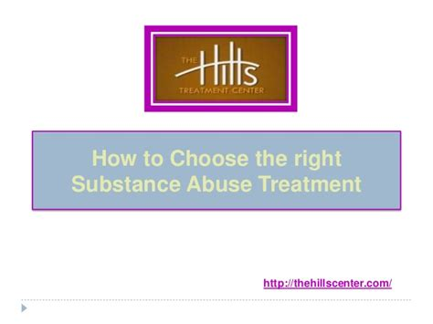 how to choose the right substance abuse treatment