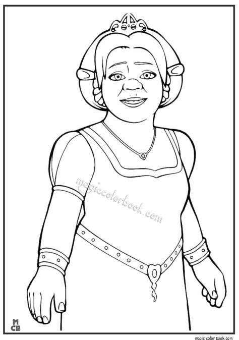 coloring pages of princess fiona shrek3 17 free printable shrek coloring pages shrek