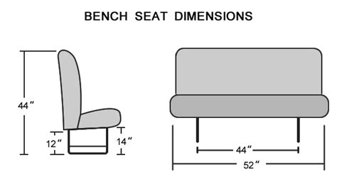 standard bench seat width download standard bench seat dimensions liming me