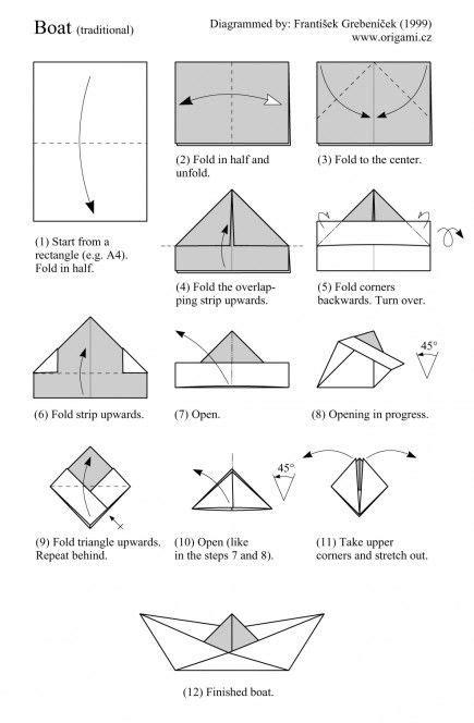 origami boat anleitung diy nautique l art d exprimer notre amour du style marin