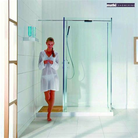 Integrated Shower Units Matki Square Walk In Corner Shower Enclosure With Shower