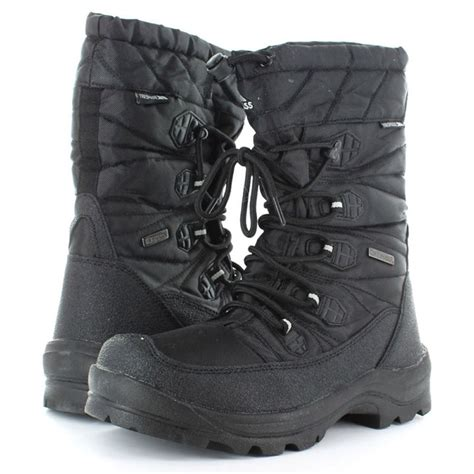 trespass mens snow boots trespass mens yetti waterproof winter lace up snow