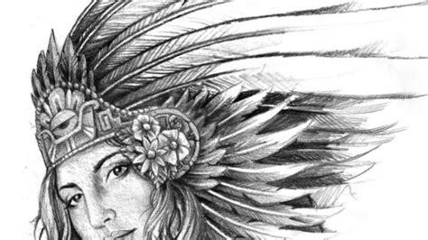 Aztec Warrior Drawings Drawing Pencil Aztec Warrior Tattoos Drawings
