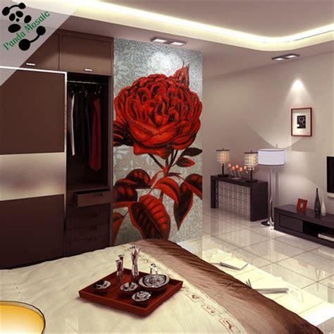 Mb Smm16 Pink Rose Glass Mosaic Pattern Tile Flower Mosaic