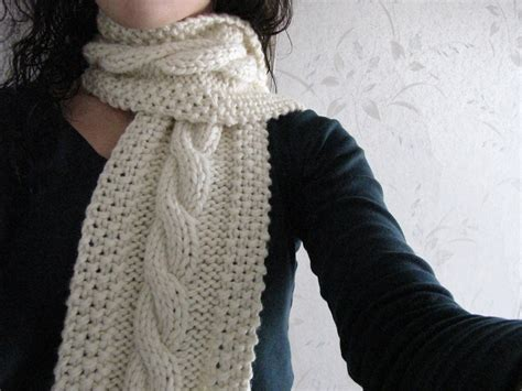 knit scarf pattern free cozy wooly cabled scarf