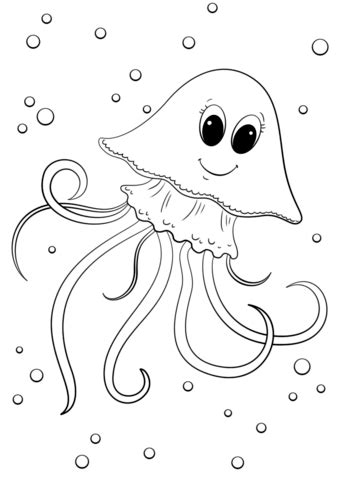 colouring pictures of jelly fish www pixshark com
