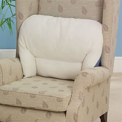 back support armchairs fleece back rest lumbar support aid armchair cushion ebay