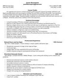 Motorcycle Repair Sle Resume by Resume Tech