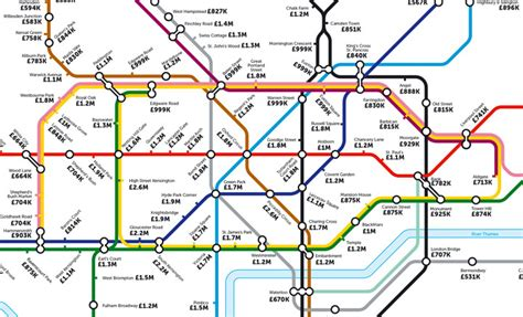 This Alternative Tube Map Shows The Average House Price At