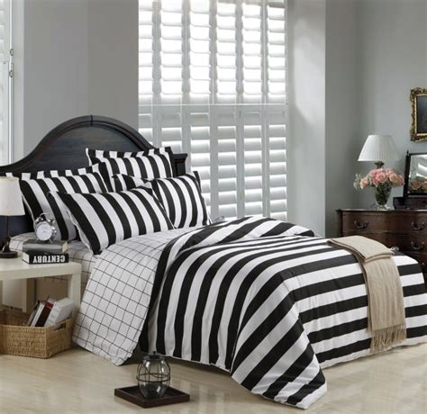black and white striped duvet cover bedding sets