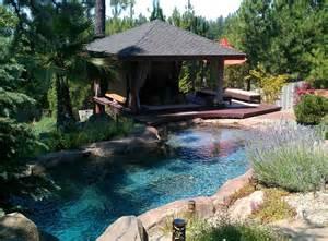 hillside pool with gazebo original from natural design swimming holes waterfalls in auburn ca
