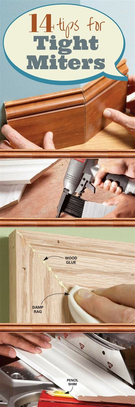 pro approved tips  tight miters carpentry projects