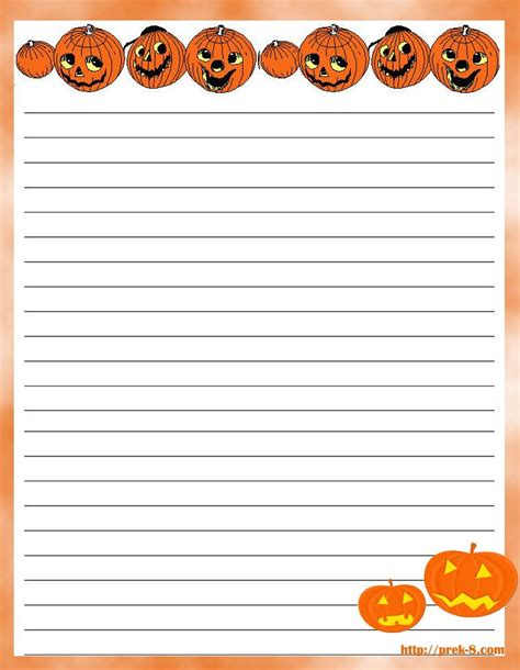 spooky writing paper scary pumpkin decorations letterhead writing