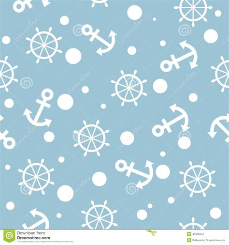 seamless nautical pattern seamless nautical pattern with white anchors and ship