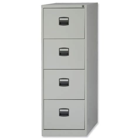 Alpha Steel Filing Cabinet 4 Drawer Steel Filing Cabinet Lockable Grey Trexus By Bisley Huntoffice Co Uk