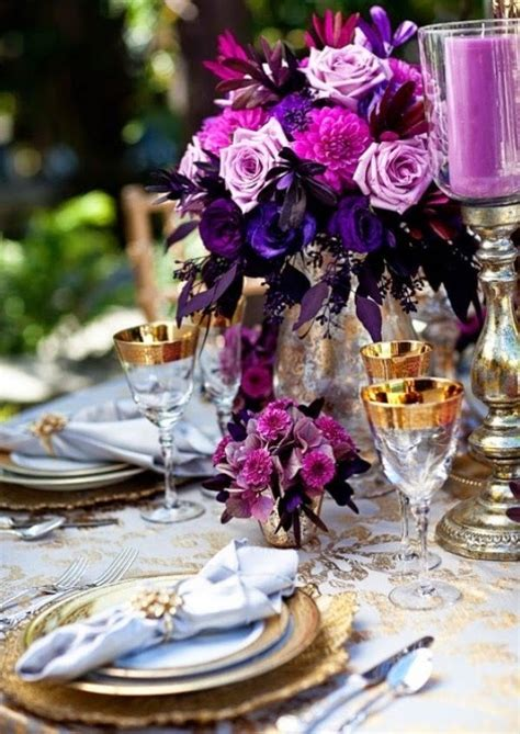 purple and gold table decorations purple and gold wedding ideas wedding stuff ideas