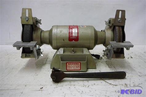 wissota bench grinder 1 2 hp bench grinder wissota modle e 7 115 vo 3