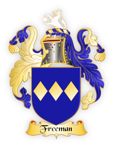 freeman and family the freeman family crest meanings