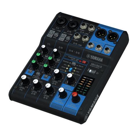 Mixer Yamaha 4 Chanel yamaha mg06x analog mixer at gear4music
