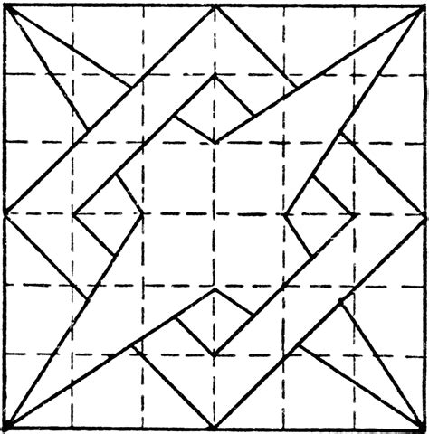 pattern for drawing a star constructing 4 point star overlapping box pattern using t