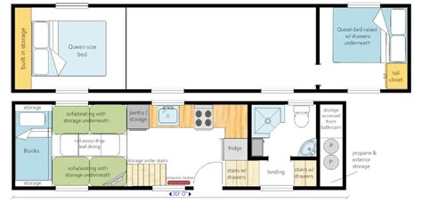 tiny house plans for large families