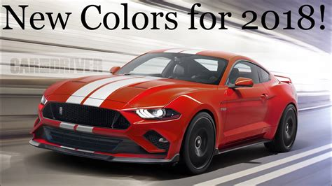 mustang colors 2018 mustang colors