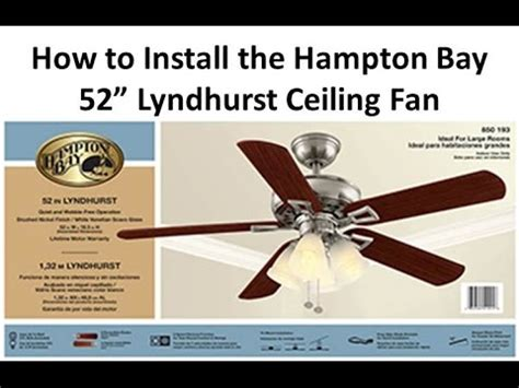how to install a ceiling fan lyndhurst
