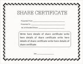 Stock Certificate Template Free Share Stock Certificate Template 21 Free Word Pdf
