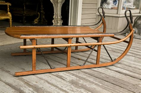 coffee table in the form of a sled at 1stdibs
