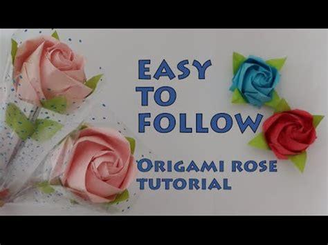 origami rose tutorial davor vinko simple origami rose tutorial youtube